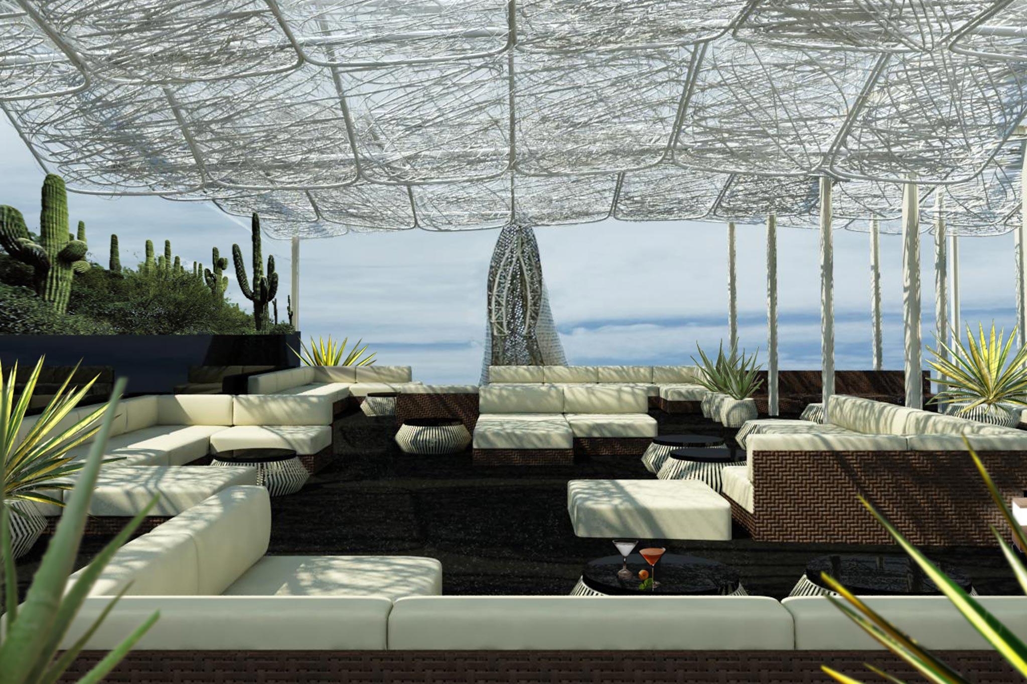 Terraza lounge en el Hotel Arts