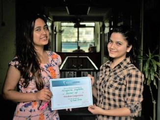 Nirupaa Sapkota- Awarded a Certificate for Runner up