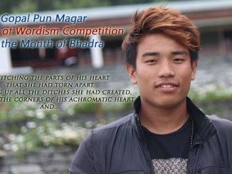 Gopal Poon Winner of Wordism Competition for Bhadra