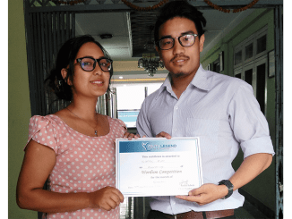 Gopal Pun, Runner Up of Wordism Competition for the Month of Shrawan