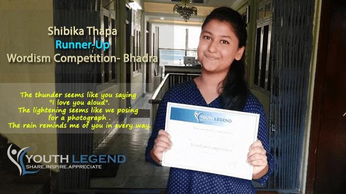 Congratulations Shibika Thapa