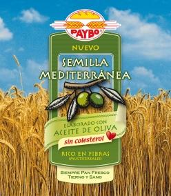 Diseño de la bolsa de pan de molde «Semilla Mediterránea» de Paybo