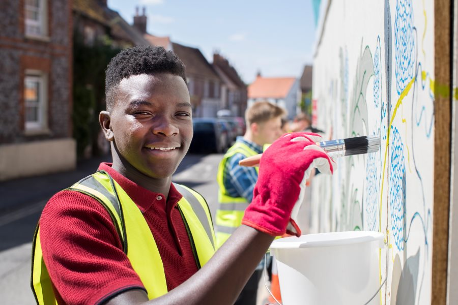 more than a room young people painting skills education job