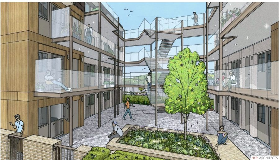 Illustration of Flats for Vulnerable Young People in Brighton