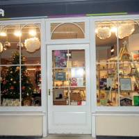 Winning Christmas display at YMCA Shop in Holt
