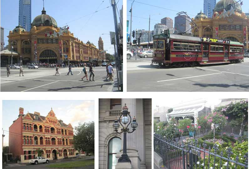 Flinders Street Station, City Circle tram, Victorian town houses and lovely little gardens all made a big impression on me - YML v/Henny Jensen