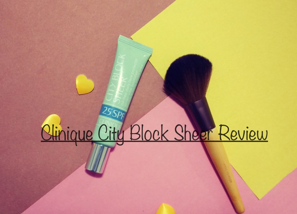 clinique city block sheer review