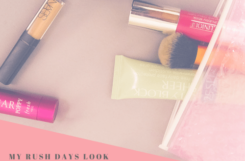 Five products makeup look