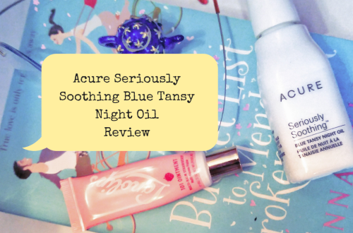 Acure Seriously Soothing Blue Tansy Night Oil Review