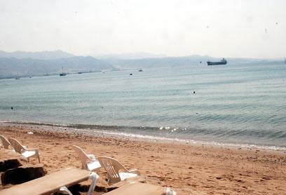 Empty Eilat Beaches