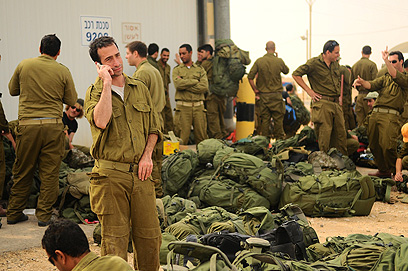 IDF Reservists outside Gaza
