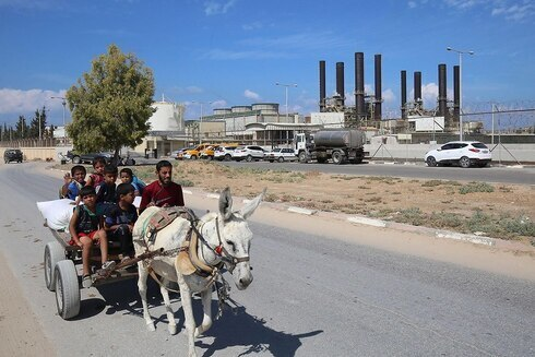 La única planta de energía que existe en la Franja de Gaza.