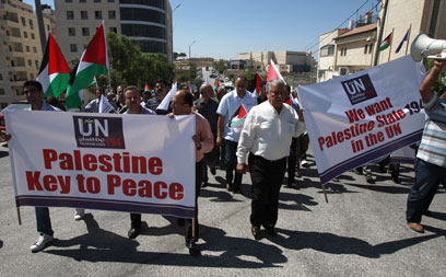 Palestinian peace demo