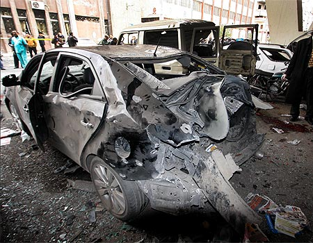 Scene from a previous car bombing