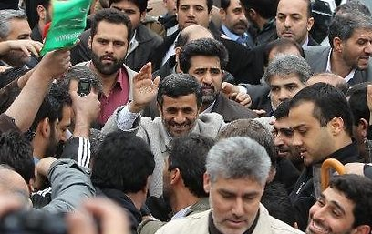 Iranian President Mahmoud Ahmadinejad in Tehran