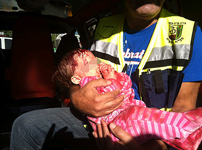 Baby injured in Kiryat Malachi missile strike