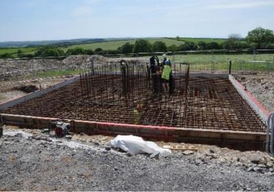 YnNi Teg turbine foundations