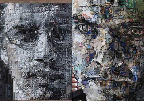 o lixo pode ser a arte amanhã - Lixo vira arte