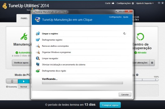 Tuneup Utilities 2014 - Manutenção em um clique