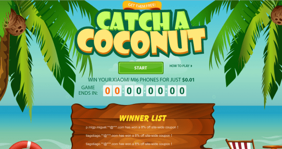 Catcha coconut