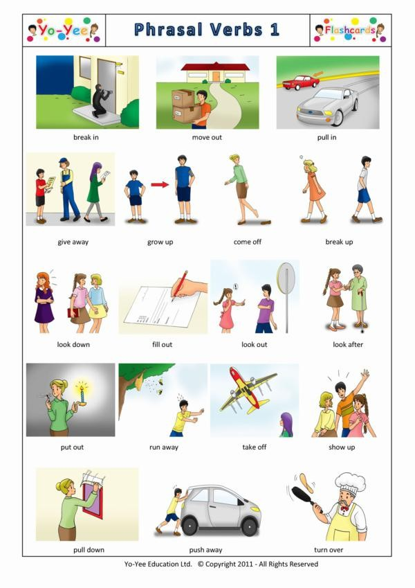 Phrasal Verbs Flash Cards For Children 动词短语 1 Teaching