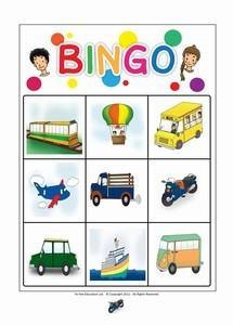 Flashcards Bingo Games for Kids