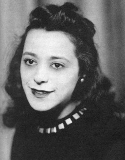 A black and white photo of a young Viola Desmond, Canadian businesswoman and civil rights hero.