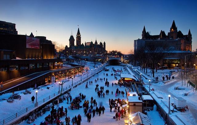 Canadian Winterlude Festival in Ottawa Canada