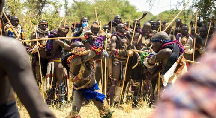 Festival of Mursi Tribe Ethiopia