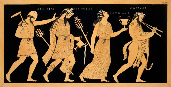Drawn image of famous Greek characters from stories