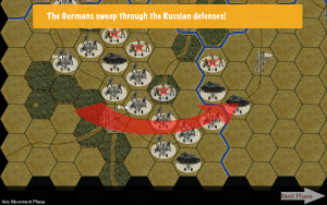 The Germans break through the Russian Lines