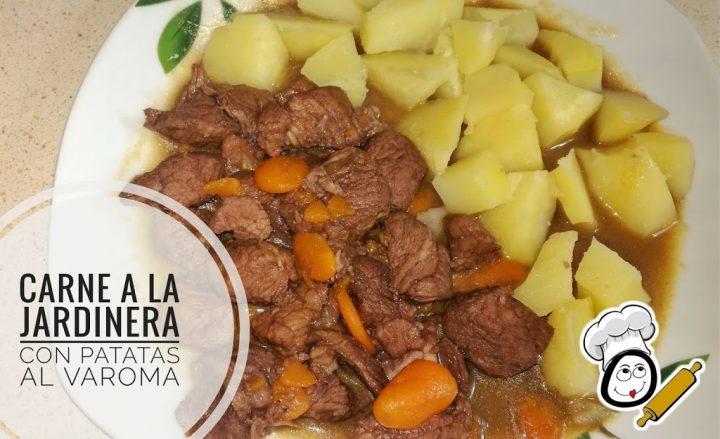 carne a la jardinera con patatas al varoma