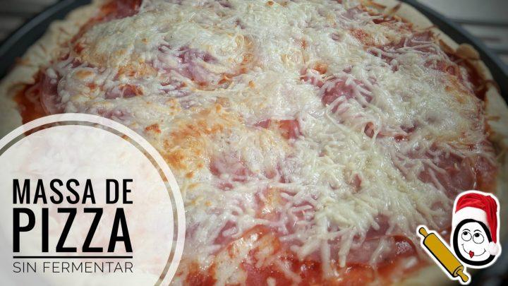 Masa de pizza rápida sin reposo en Thermomix