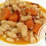 Alubias, con bacón y zanahorias con Olla GM