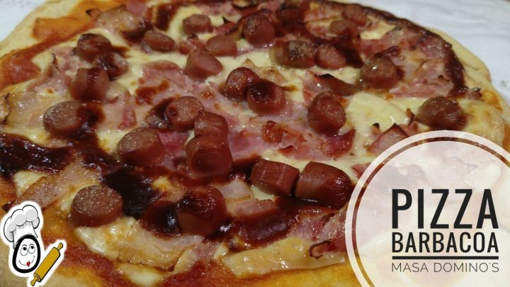 Pizza de barbacoa con masa Domino´s en Thermomix