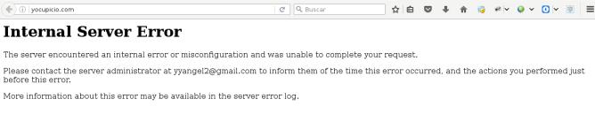 Qué hacer cuando tu blog muestra 500 Internal Server Error