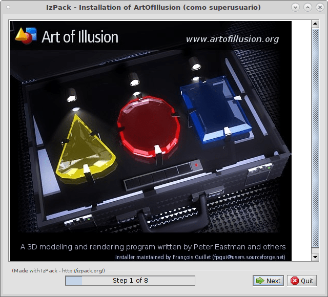 Art of Illusion 2.9 Installer for Linux