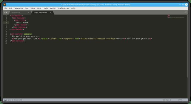 Editando el archivo home.page.html