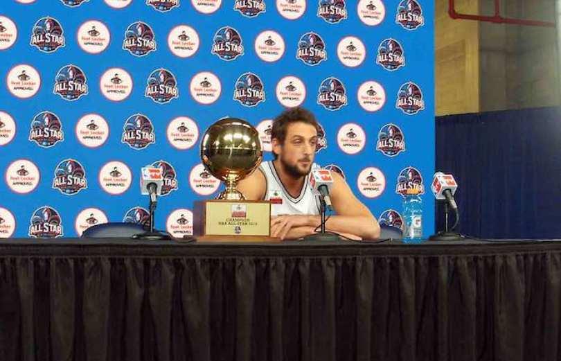 El alero italiano Marco Stefano Belinelli, de los Spurs de San Antonio.