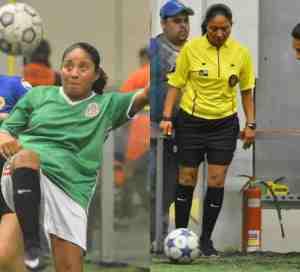 Árbitro Rosalba Luna mete dos goles en la Liga San Francisco