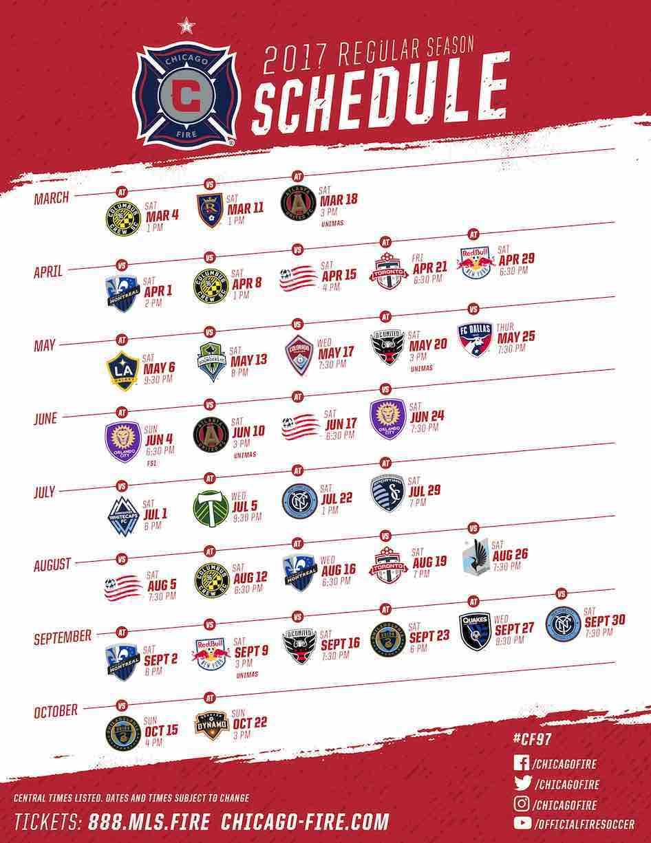 CHicago-Fire-Schedule 2017-Calendario