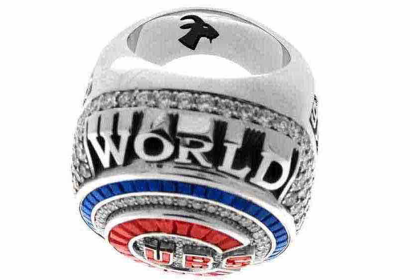 Chicago Cubs World Series ring anillo