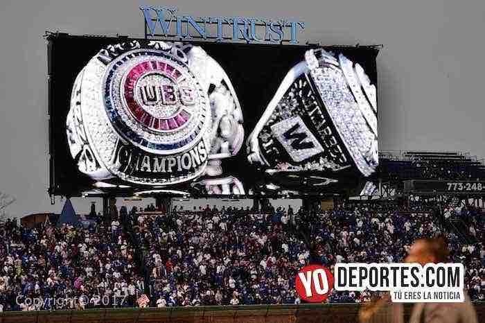 Chicago-Cubs ring ceremony-Wrigley Field