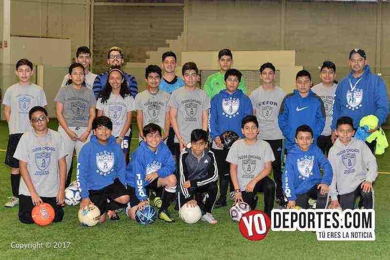 Tuzos Chicago Soccer Academy acepta niños de hasta 17 años.