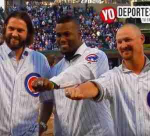 Jorge Soler recibe anillo de la Serie Mundial con los Cachorros de Chicago
