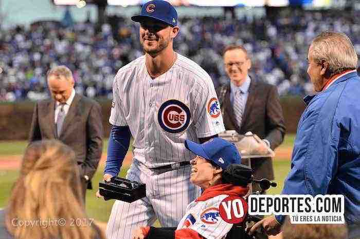 Kris Bryant-Chicago-Cubs ring ceremony