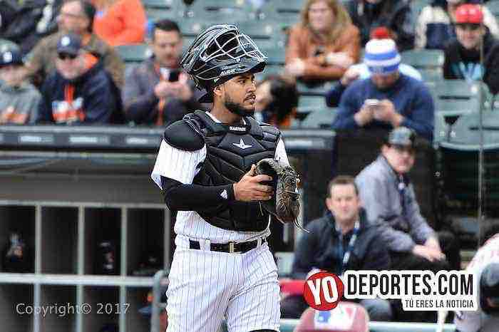 Omar Narvaez-White Sox-Detroit Tigers-Opening Day