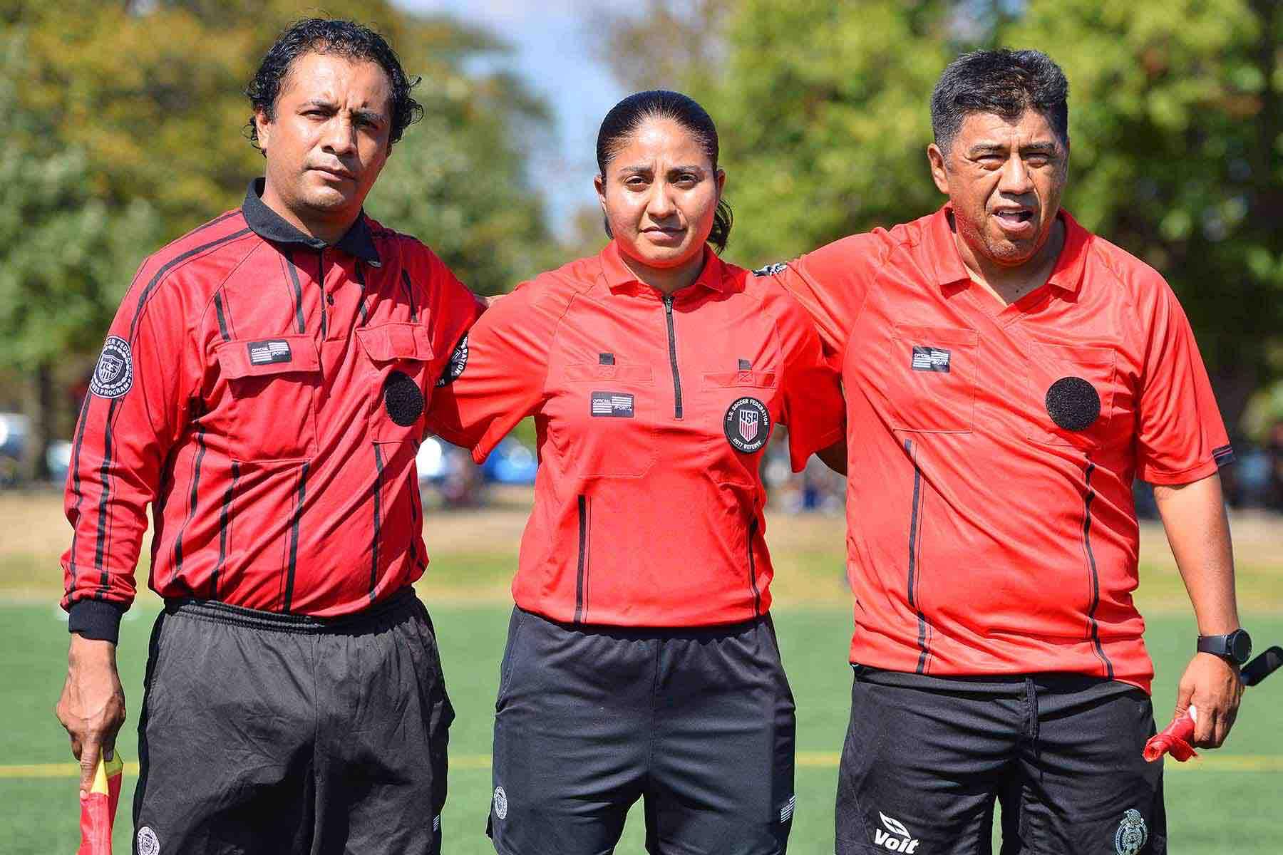 Arbitro Ismael Cristino-Rosalba Luna-Richard Peralta-Deportivo Oro-Hidalgo Veracruz-Liga Douglas