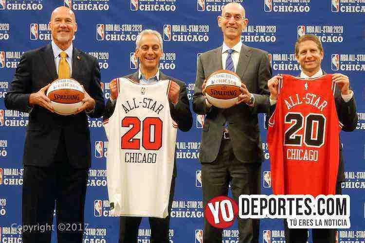 John Paxson-Rahm Emmanuel-Adam Silver-Michael Reinsdorf-Chicago Bulls NBA Allstar