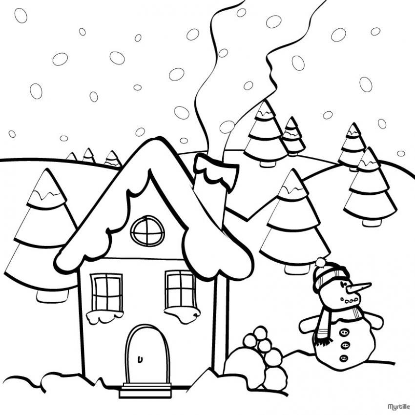 Dibujos Para Hacer De Navidad Postal Con Duendes De